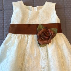 Other - Baby Girl Beautiful Cream Lace Dress